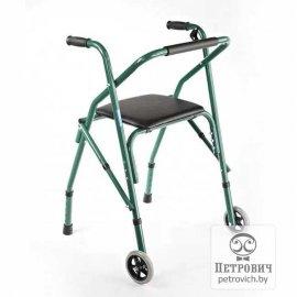 Ходунки регулируемые на колесах с сиденьем для отдыха FS914L
